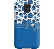 Fun Blue Ladybugs Samsung Galaxy Case/Skin