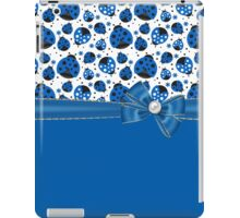 Fun Blue Ladybugs iPad Case/Skin
