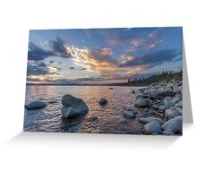 Edge of Rock Beach - Lake Tahoe Greeting Card