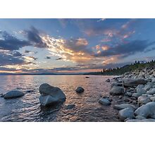 Edge of Rock Beach - Lake Tahoe Photographic Print