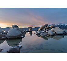 Sand Harbor at Dusk Photographic Print