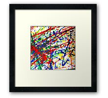 Primary Splatter Framed Print