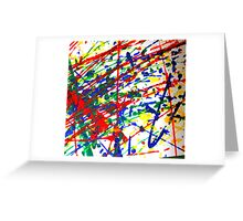 Primary Splatter Greeting Card
