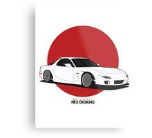 Mazda RX7 (Rising Sun) Metal Print