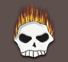 Flaming Skull Tee by BluAlien