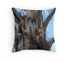 cat in tree Throw Pillow