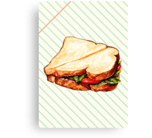 Lunch Room Sandwich Canvas Print