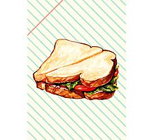Lunch Room Sandwich Photographic Print