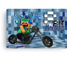 8Bit Riders Canvas Print