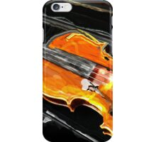 VIOLIN WITH CASE IN ABSTRACT iPhone Case/Skin