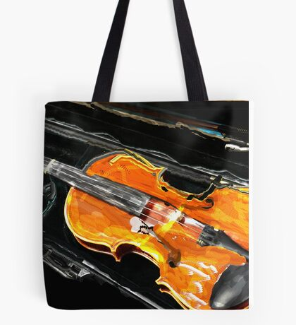 VIOLIN WITH CASE IN ABSTRACT Tote Bag