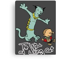 The Will and Lying Cat- SAGA / Calvin and Hobbes cross-over Canvas Print