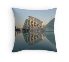 "Science ""Ciencias"" Hall, Valencia, Spain Throw Pillow"