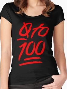 0 To 100 [Red] Women's Fitted Scoop T-Shirt