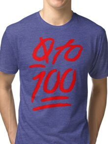 0 To 100 [Red] Tri-blend T-Shirt