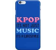 KPOP IS A LIFESTYLE - BLUE iPhone Case/Skin