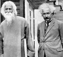 Rabindranath Tagore and Albert Einstein in 1930 by Adam Asar