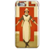 RedCrossNurse Marine Corps recruiting poster from World War II iPhone Case/Skin