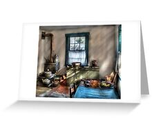 Old Fashioned Kitchen Greeting Card