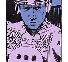Tron portrait by Nathan Anderson