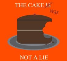 The cake is/was not a lie (White letters) by superferretIX
