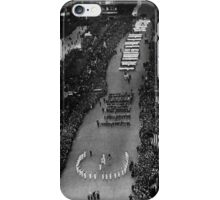 SALUTING THE FLAG. An impressive ceremony which took place in Fifth Avenue, New York 1917 iPhone Case/Skin