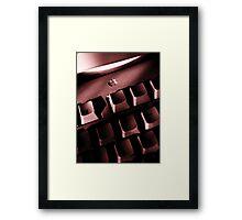 Mac keyboard Framed Print