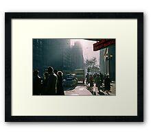 Corner of Collins and Elizabeth Streets Framed Print