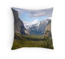 Yosemite Valley Throw Pillow