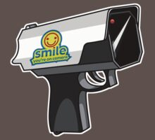 shot by cctv: smile you're on camera by PixelProtest