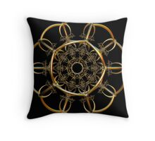 Incendia -- Sacred Gold Collection -- Golden Alchemy Gate 2 Throw Pillow