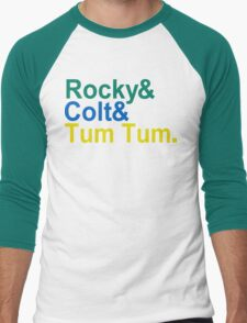 3 Ninjas Funny Geek Nerd Men's Baseball ¾ T-Shirt