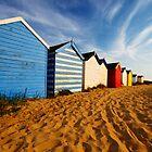 Beach Huts by Rick Bowden