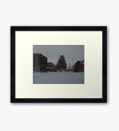 Small Town Wonderland Framed Print