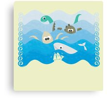 SEA OF MONSTERS Canvas Print