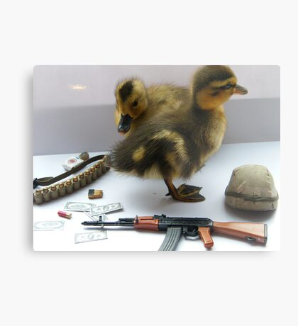 duck army Metal Print