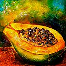 Tropics..Papaya at the George St Market by ©Janis Zroback