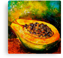 Tropics..Papaya at the George St Market Canvas Print