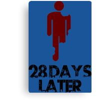 28 days later Funny Geek Nerd Canvas Print