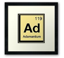 Adamantium Funny Geek Nerd Framed Print