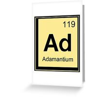 Adamantium Funny Geek Nerd Greeting Card