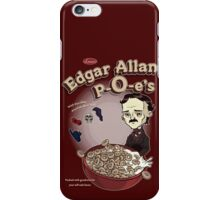 Once Upon a Breakfast Dreary - Edgar Allan P-O-e's  iPhone Case/Skin