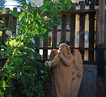 praying angel from historic St Emmanuel's Episcopal Church by Lenny La Rue, IPA