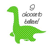 """Nessie"" Lochness Monster Green Polka Dots Dotted Bright Cute Mythical Creature by CanisPicta"