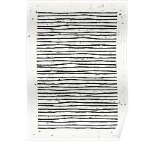 Hand Drawn Lines Print Poster