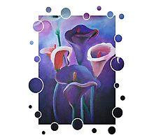 Purple Calla Flowers Photographic Print
