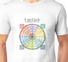 Unit Circle with Radian Measures Unisex T-Shirt