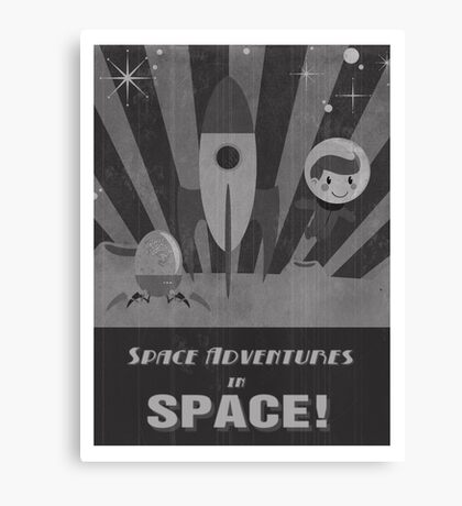 Space adventures, In Space!  Canvas Print