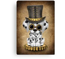Cute Steampunk Dalmatian Puppy Dog Canvas Print