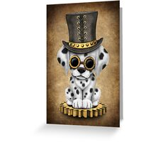 Cute Steampunk Dalmatian Puppy Dog Greeting Card